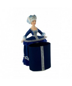 Porcelain art doll - casket Costume of a court lady 18th century Europe Handmade souvenir