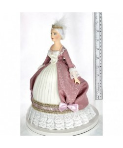 Porcelain art doll Women's court costume 18th century  France.  Handmade souvenir
