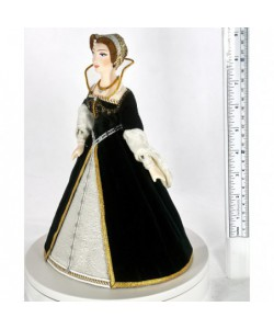 Porcelain art doll Royal dress 16th century Paris France Handmade souvenir