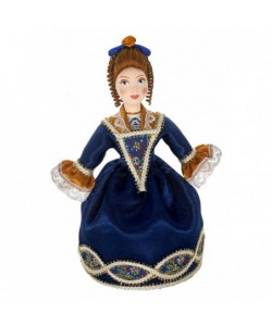Porcelain art doll Jewelry box The Lady Handmade Souvenir