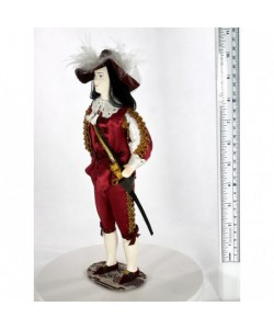 Porcelain art doll Men's court costume 18th century France Handmade souvenir