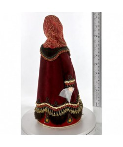 Porcelain art doll Young in  traditional festive dress 18th century Russia Handmade souvenir
