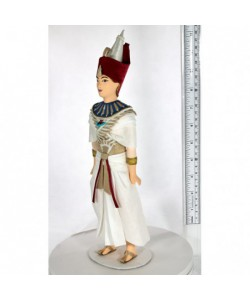 Porcelain Art doll Pharaoh 14th century BC Egypt Handmade souvenir
