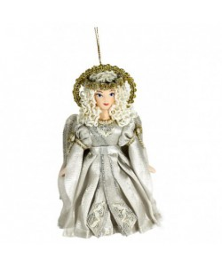 Porcelain hanging art doll Angel Handmade souvenir