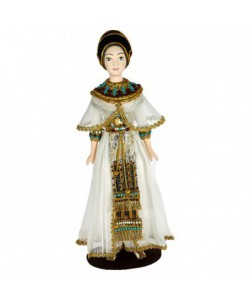 Porcelain Art doll Ancient Egyptian women's costume  Handmade souvenir
