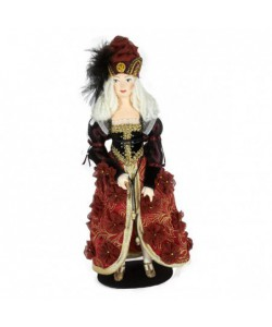 Porcelain art doll Venetian woman in a carnival costume 12th century Italy Handmade souvenir