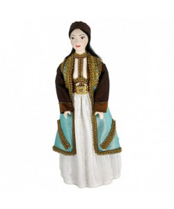 "Porcelain art doll Montenegro woman's costume 19th century Handmade souvenir ® ""Amusing craft"""