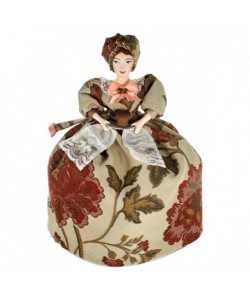 Art Tea cosy doll Merchant's wife with bread and salt 19th century Russia