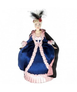 Porcelain art doll Lady in fancy dress 18th century St. Petersburg. Handmade souvenir