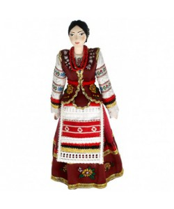 Porcelain ethographic art doll Cossack women's stage costume Handmade souvenir