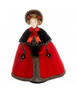 Porcelain art doll The lady in the cape 1830 St. Petersburg Handmade souvenir