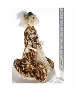 Porcelain art doll A lady with a cane the 18th century St. Petersburg  Handmade souvenir
