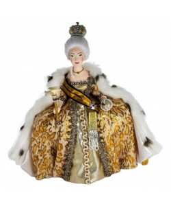 Porcelain art doll Empress Catherine II The Great 18 century Russia Handmade souvenir
