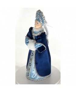 Art Doll Snegurochka Russian Snow maiden. Handmade Christmas New Year's toy