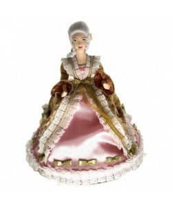 Porcelain art doll Maid of honor in a rococo era dress 18th century Handmade souvenir