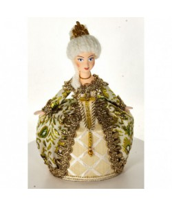Porcelain Art doll - Jewelry box  The Lady Handmade Souvenir