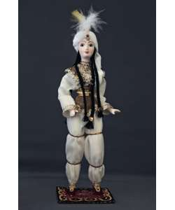 Porcelain ethnographic art doll Arabian beauty. 18th century Near East. Handmade souvenir