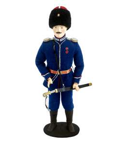 "Souvenir doll ""Cossack ataman 1867-78 Military uniform  Russia."""