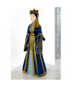 Porcelain art doll Circassian folk women's costume RussiaHandmade souvenir