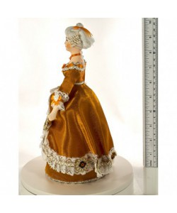 Porcelain Art doll Lady in a fashionable costume 18th century Western Europe Handmade souvenir