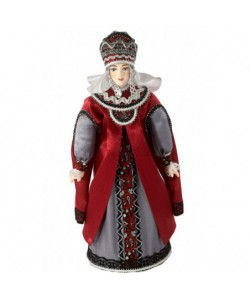 Porcelain Art doll Vladimir boyarynya in feryaz and barmy 15th century Rus Handmade souvenir