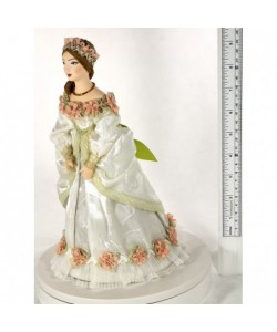 Porcelain Art doll Lady in ball-dress 18th century St. Petersburg Handmade souvenir
