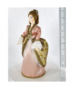 Porcelain art doll Lady in a court dress 18th century Petersburg Russia Handmade souvenir
