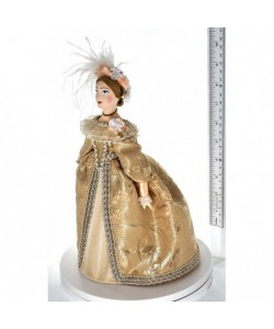 "Porcelain art doll Lady in a court dress 18th century Europe Handmade souvenir ® ""Amusing craft"" St. Petersburg"