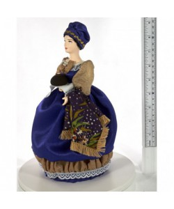 Porcelain Art doll Merchant woman with  easter cake 19 century Russia Handmade souvenir