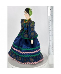 Porcelain Art doll Merchant woman Class costume 19th century Russia Handmade souvenir
