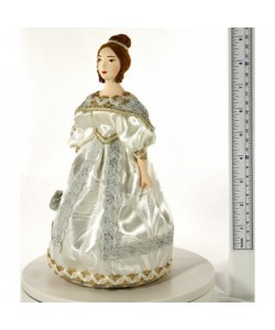 Porcelain art doll A lady in a ball gown with a fan 1830 Petersburg Handmade souvenir