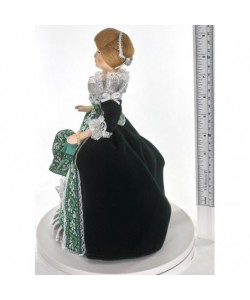 Porcelain art doll A Lady in fashionable dress 18th century St. Petersburg Handmade souvenir