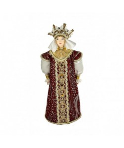 Porcelain art doll Festive princely female costume 16th century Russia Handmade souvenir