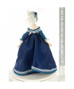Porcelain Art doll Lady-in-waiting costume 18th century Europe Handmade souvenir