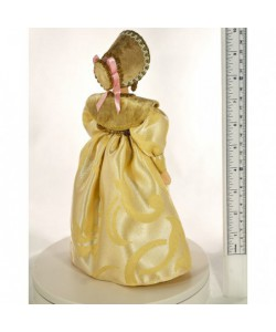 Porcelain art doll The young lady in the  fashionable costume 19th century Europe  Handmade souvenir