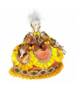 Tea Cosy Art Doll Court lady  Porcelain Textiles Handmade souvenir