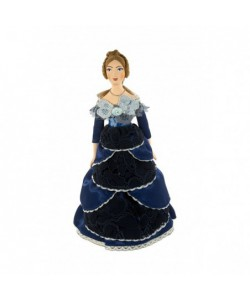 Porcelain Art doll Lady in ball gown19th century St. Petersburg Handmade souvenir