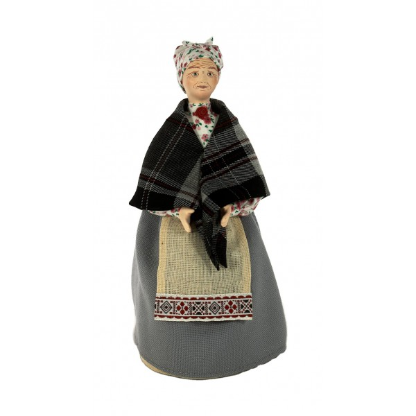 Porcelain Art doll Nanny in everyday clothes Pushkin era 19 century Russia Handmade souvenir