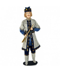 Porcelain Art doll  Prince Guidon from Pushkin's fairy taleHandmade souvenir