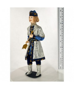 Porcelain Art doll  Prince Guidon from Pushkin's fairy tale. Handmade souvenir
