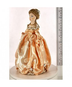 Porcelain art doll The maid  of honour 18th century Europe Handmade souvenir