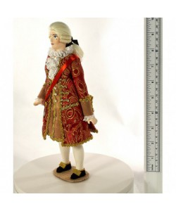 Porcelain Art doll Count Orlov The men's court costume 18th century Russia Handmade souvenir